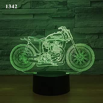 Moto Bicicleta Moto 3D Lámpara de noche Ilusión acrílica ...