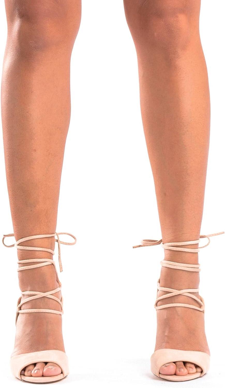 Guiltysoles Lizbeth Strappy Lace-Up Stiletto