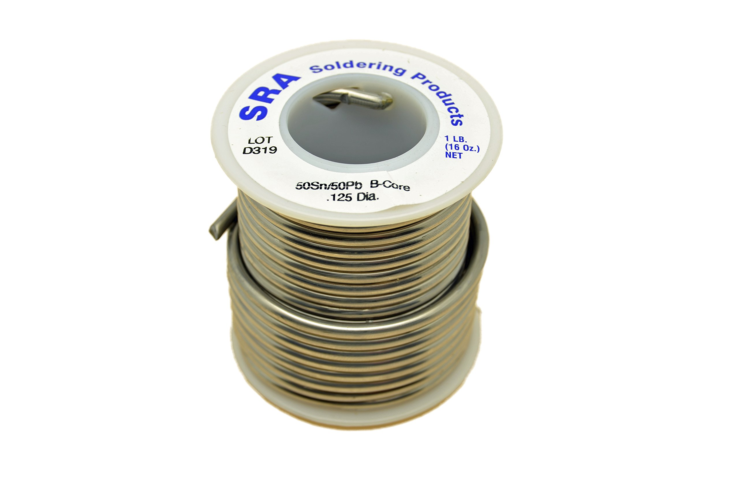 SRA Soldering Products WBC5050125   Acid Flux Core Solder, 50/50 .125-Inch, 1-Pound Spool