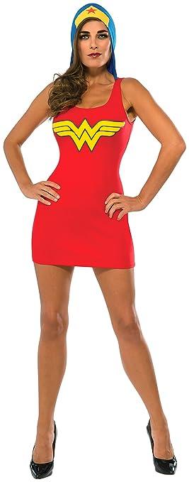Rubies Vestido Disfraz de Wonder Woman con Capucha para Mujer ...