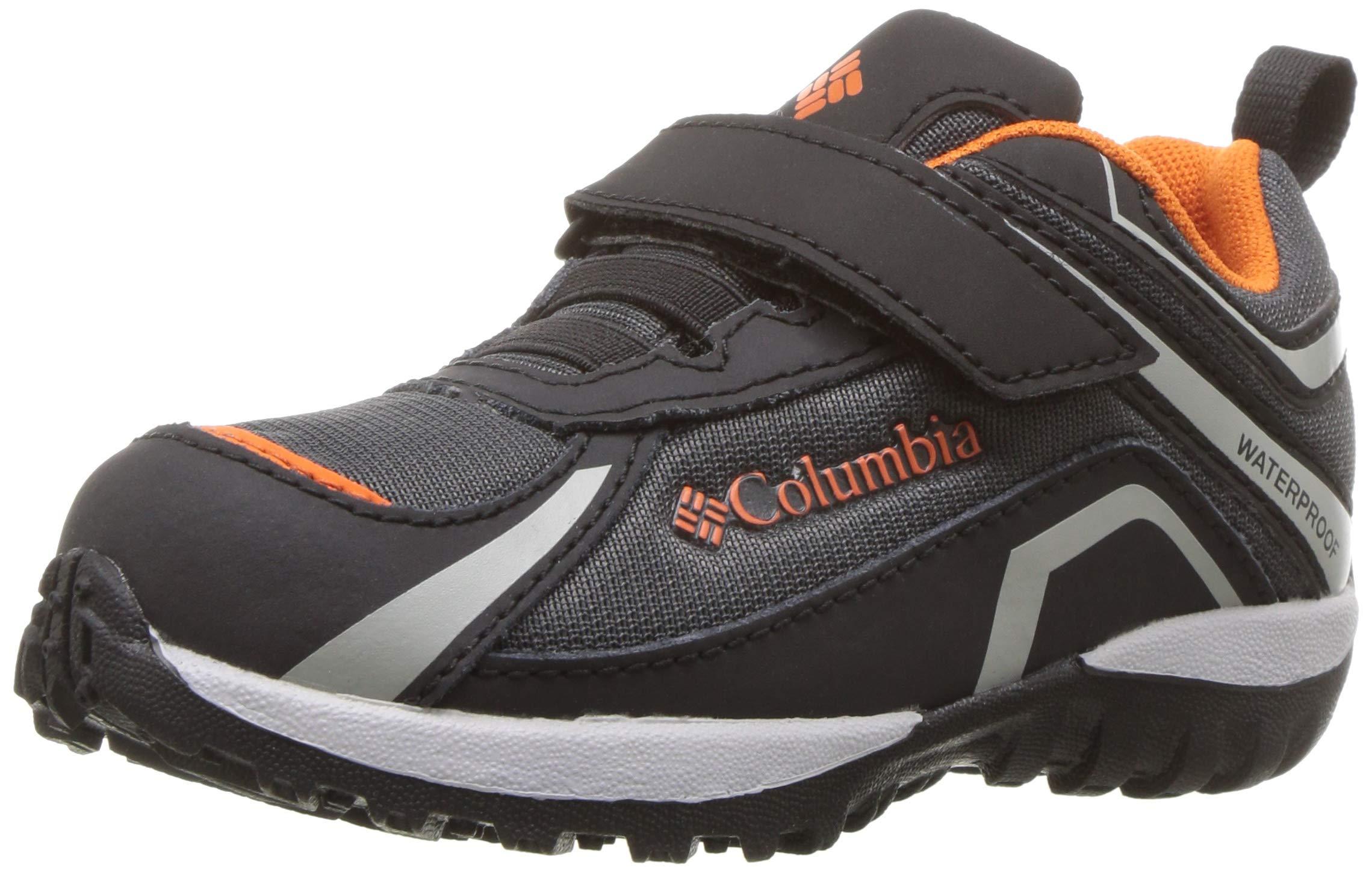 Columbia Boys' Children's Conspiracy Waterproof Hiking Shoe, Dark Grey, Heatwave, 12 Regular US Little Kid