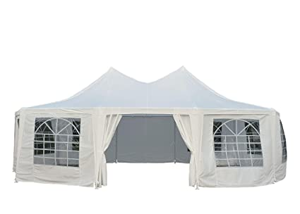separation shoes d6fa4 98a1d Outsunny 29' x 21' 10-Wall Large Party Gazebo Tent - White