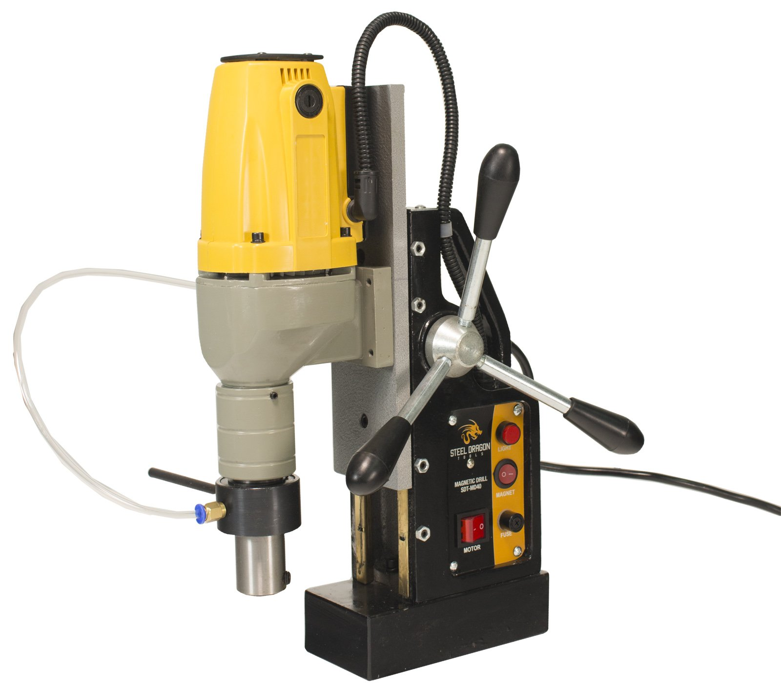 Steel Dragon Tools MD40 Magnetic Drill Press with 1-1/2'' Boring Diameter & 2700lb Magnetic Force by Steel Dragon Tools (Image #1)