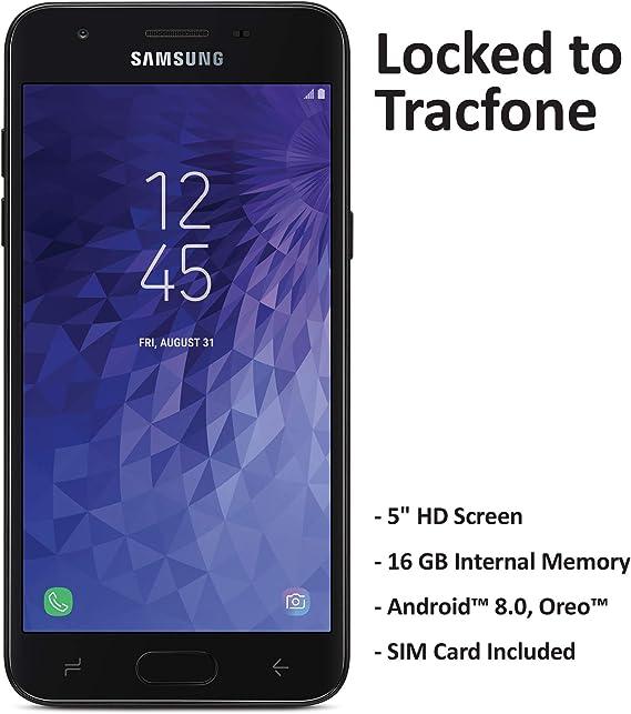 ($50 eGift Card Promotion) Tracfone Carrier-Locked Samsung Galaxy J3 Orbit 4G LTE Prepaid Smartphone - Black - 16GB - Sim Card Included - CDMA