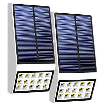 gesimei LED Solar Leuchten con detector de movimiento Radar Sensor de movimiento luz lámpara de pared