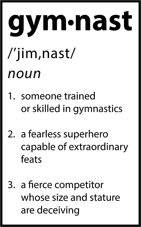 Damdekoli Definition Gymnast Poster (11 x 17 Inches)