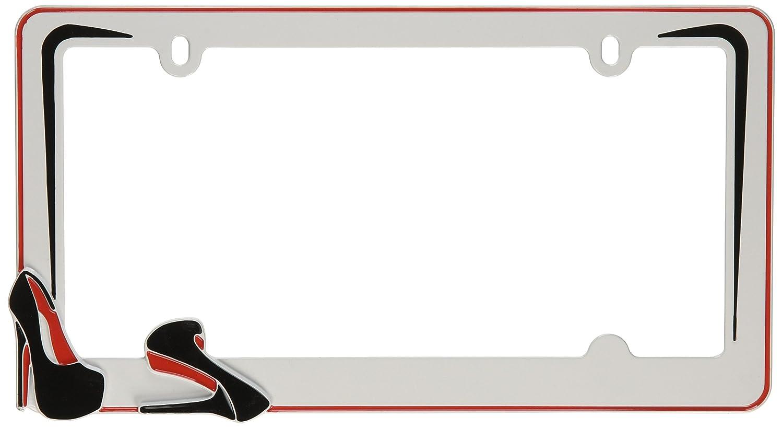 Cruiser Accessories 22001 Stiletto License Plate Frame White//Black