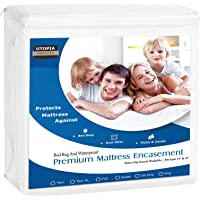 Utopia Bedding Premium Zippered Waterproof Mattress Encasement Cover with Bed Bug & Waterproof Mattress Encasement
