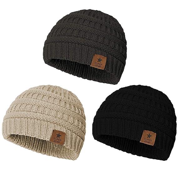 Kid/'s beige and grey hat