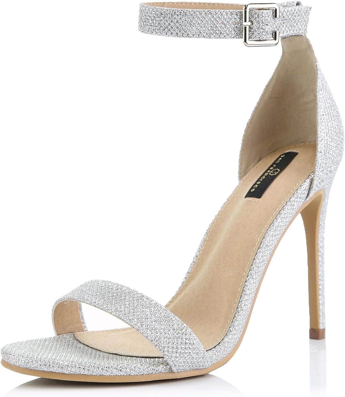 Brieten Women/'s Wedge Heel Platform Sandal High Mid Heel Open Toe Buckle Sandal