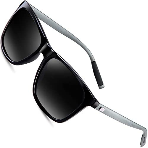 c2c5a9794f3 Sunglasses for Men Polarized Vintage Men`s Sun Glasses Shade WP1003 Black