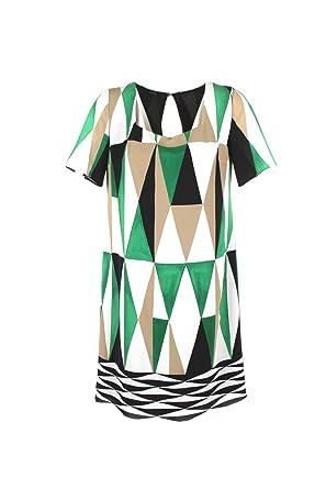 4484b0a406f1 HANITA Abito Donna S Nero Verde H.v2125.2146 Primavera Estate 2018   Amazon.co.uk  Clothing