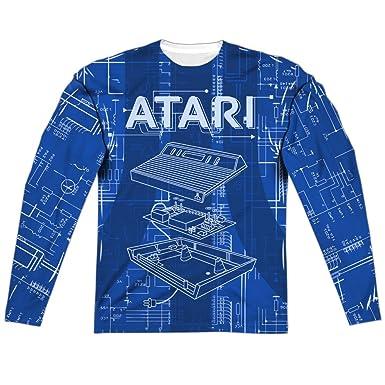 Atari Gravitar 2600 Game Cartridge Design Adult Front//Back Print Poly Crewneck