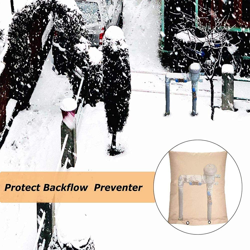 "Sprinkler Valves Irrigation Backflow Valve Backflow Preventer Insulation Cover 16/""W x 20/""H Waterproof Pouch for Winter Pipe Freeze Protection"