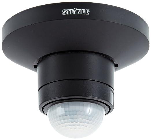 Steinel 602512 Detector de movimiento IS 360 D, negro, Infrarrojo Pasivo, eficiente de