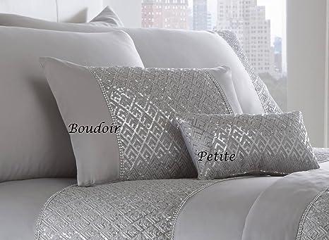 Bedding Cuscini.Amazon Com Portfolio Shimmer Luxury Diamante Trim Filled Boudoir