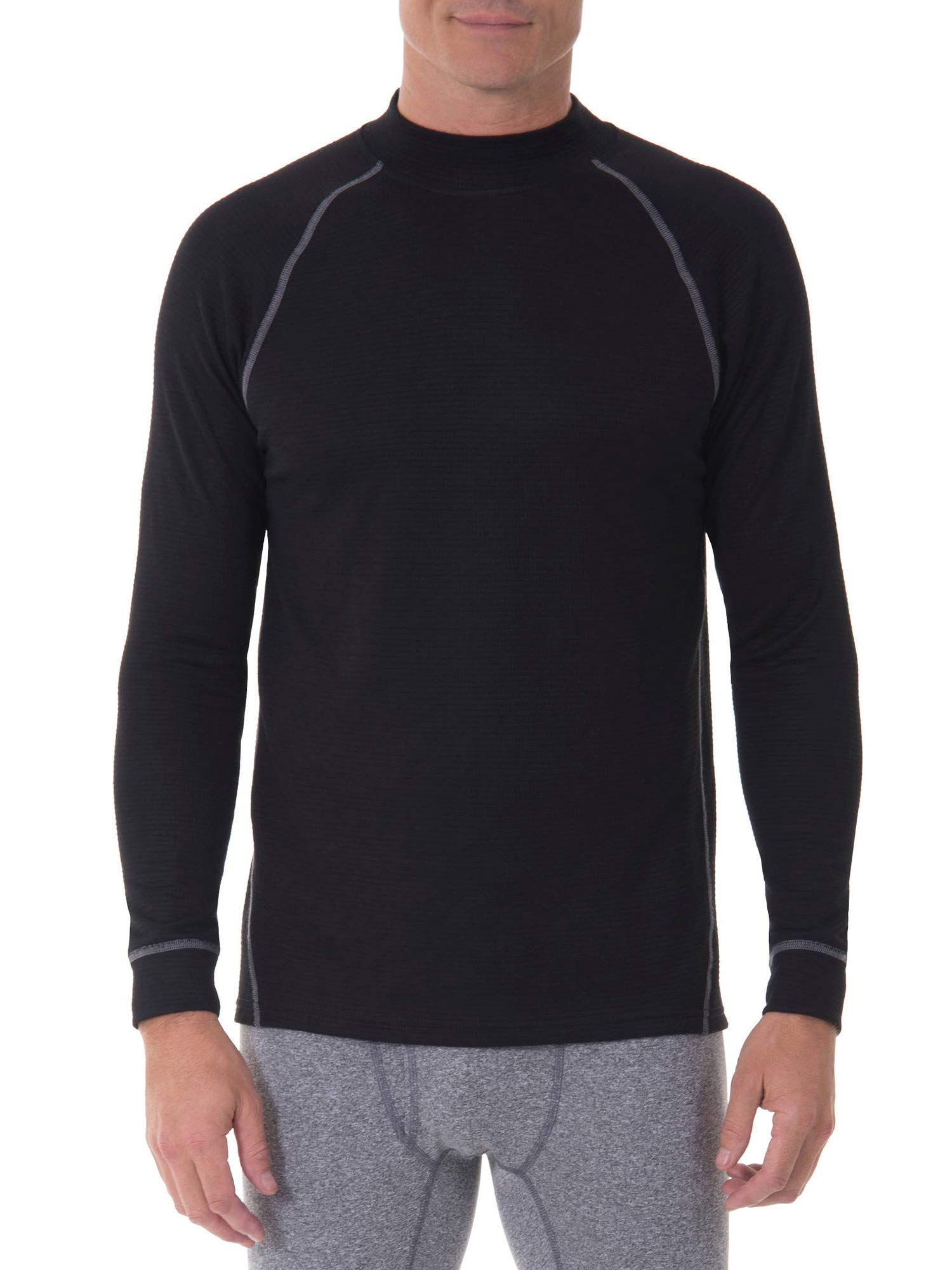 Russell Performance Tech Grid Baselayer Thermal Crew Top - Black (XL (Chest 46-48)) by Russell Athletic