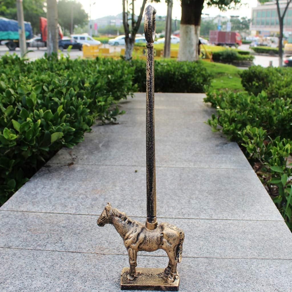 WFM Cast Iron Horse Door Stopper Collision Safety Creative Handle Door Stop Antique Copper Color