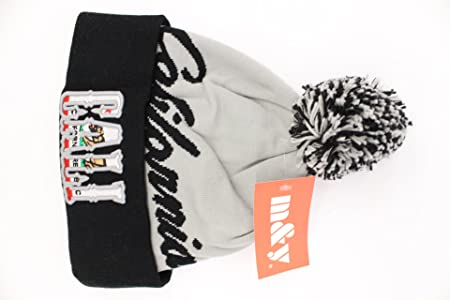 Amazon.com : M&y California Republic Special Custom Cali Logo Pom Knit BLACK LETTER/GREY/BLACK : Sports & Outdoors