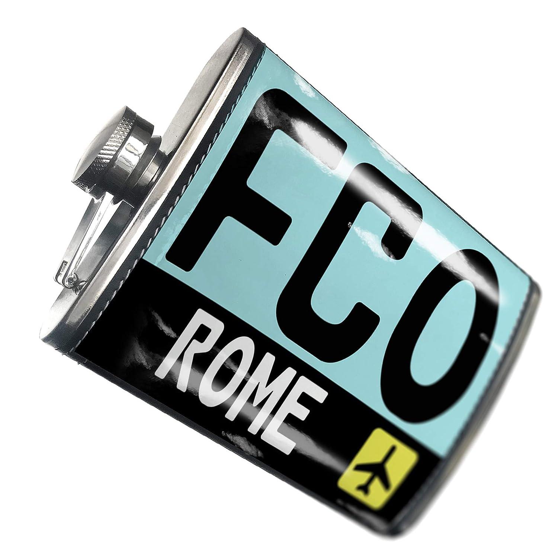 8オンスフラスコステッチAirportコードFCO /ローマ国:イタリアステンレススチール – Neonblond   B00QQVFJXA