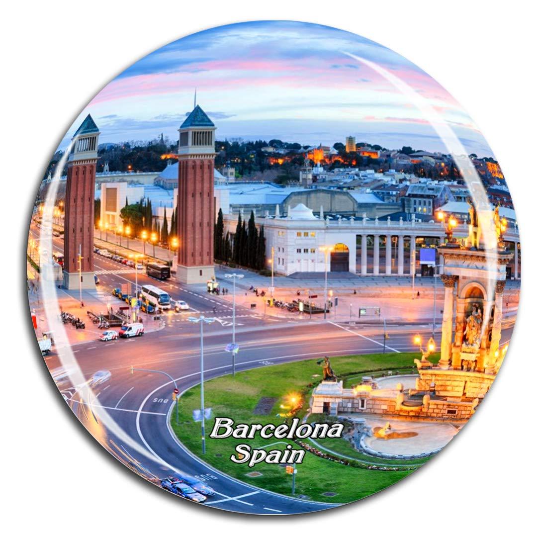 Weekino España suare Barcelona Imán de Nevera 3D de Cristal de ...
