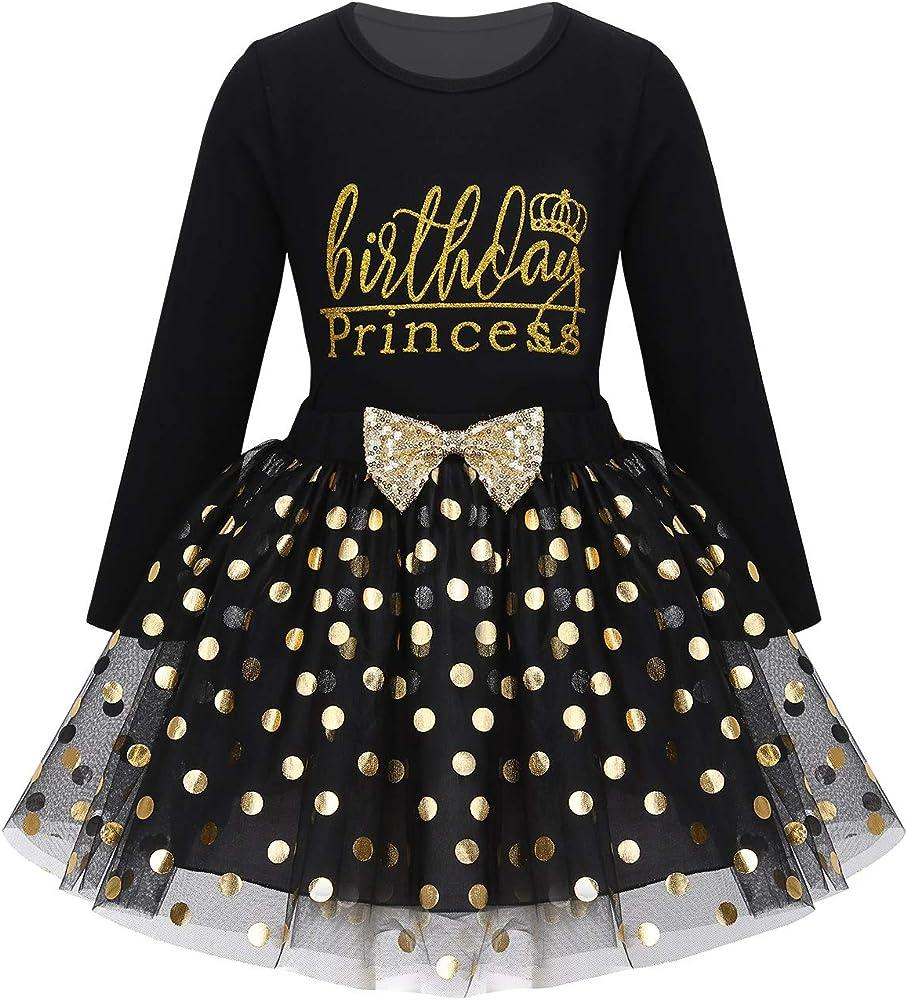 YiZYiF Vestido Tutú Princesa Niñas Vestido Fiesta Boda Camiseta ...