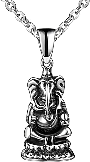 Mode pour homme en acier inoxydable boucle en cuir pu pendentif collier IU