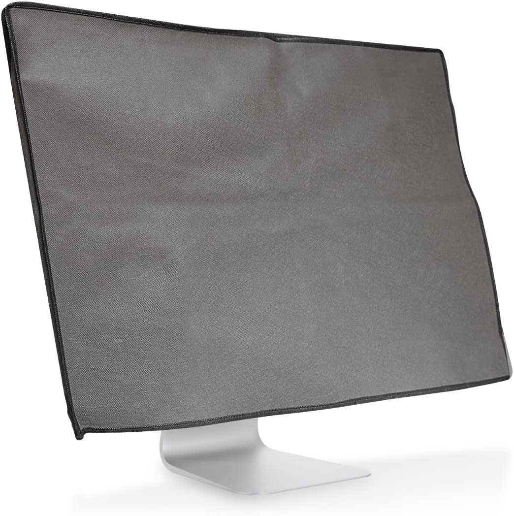 "kwmobile Monitor Cover Compatible with 24-26"" Monitor - Anti-Dust PC Monitor Screen Display Protector - Dark Grey"