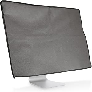 """kwmobile Monitor Cover Compatible with 24-26"""" Monitor - Anti-Dust PC Monitor Screen Display Protector - Dark Grey"""