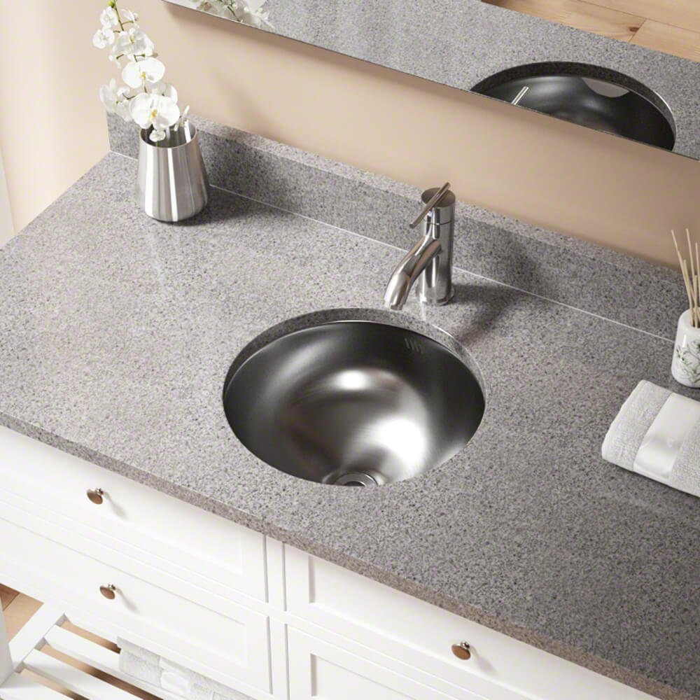 420 18-Gauge Dual-Mount Stainless Steel Bathroom Sink