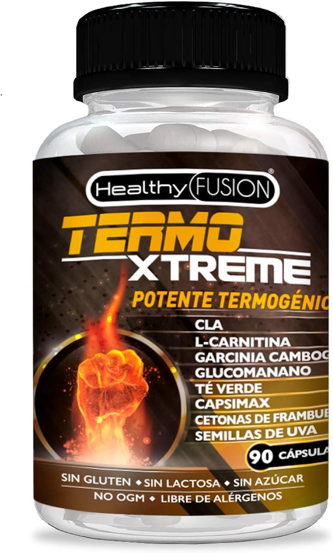 Exclusivo Termogénico y Adelgazante Con Potente Acción Quemagrasas | Garcinia Cambogia + L-Carnitina + CLA + Glucomanano + Te Verde | Estimula el ...