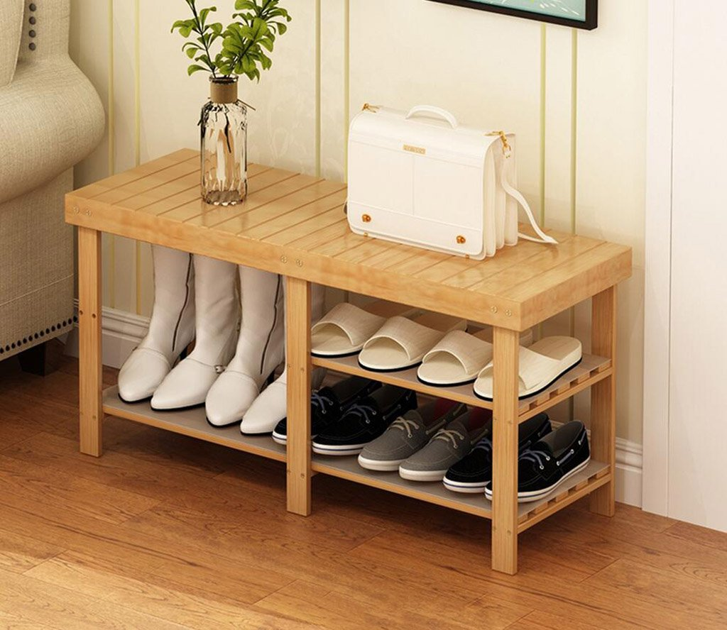 A shoes Bench Organizing Rack shoes Racks Bamboo Products DIY shoes Racks Multi - Store Shelves Multi - Functional shoes Frame Creative Simple shoes Racks (color   B)