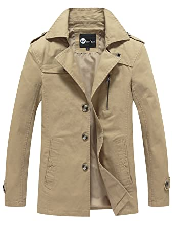 WenVen Men&39s Fall Casual Cotton Jackets at Amazon Men&39s Clothing