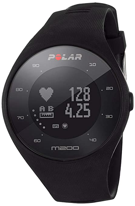 Polar M200 - Reloj de Running con GPS y Frecuencia cardíaca en la muñeca - Actividad 24/7 - Negro, M/L