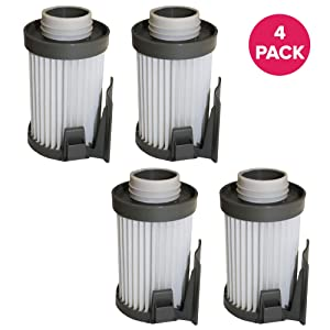 Crucial Vacuum Air Filter Replacement Parts - Compatible with Eureka Vacs Part # 62731 62396 - High Performing, Compact, Durable Filters Fit Optima Series Models DCF-10, DCF-14 - Home (4 Pack)