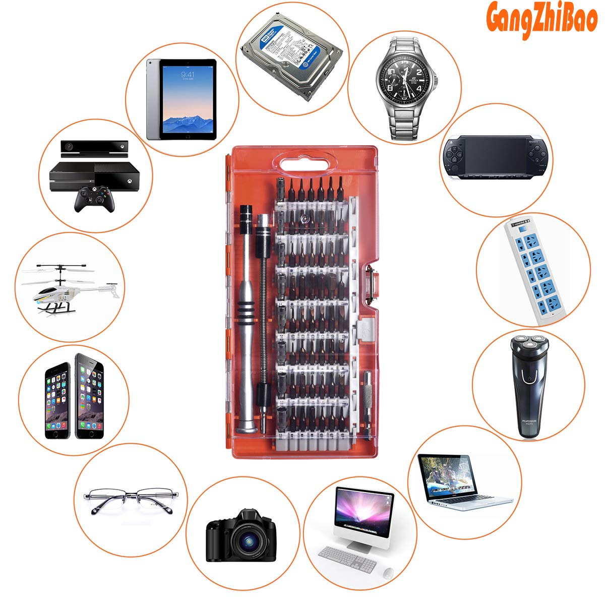 90 pcs Repair Tool Kits,Screwdriver Set for Phones Computers Pads Electronics