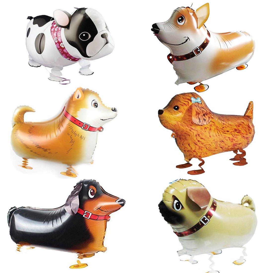 Weoxpr Pet Dog Balloons Walking Animal Balloon Pet Balloons Air Walkers for Kids Gift Birthday Par