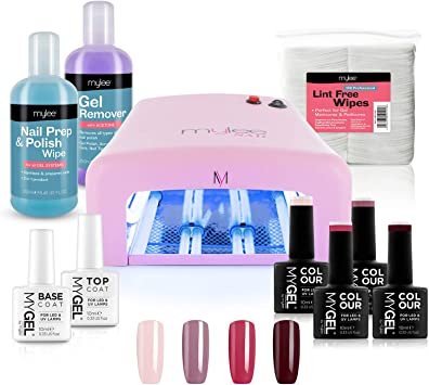 MYLEE Kit de 4 colores de esmalte en gel para uñas, Lampara UV ...