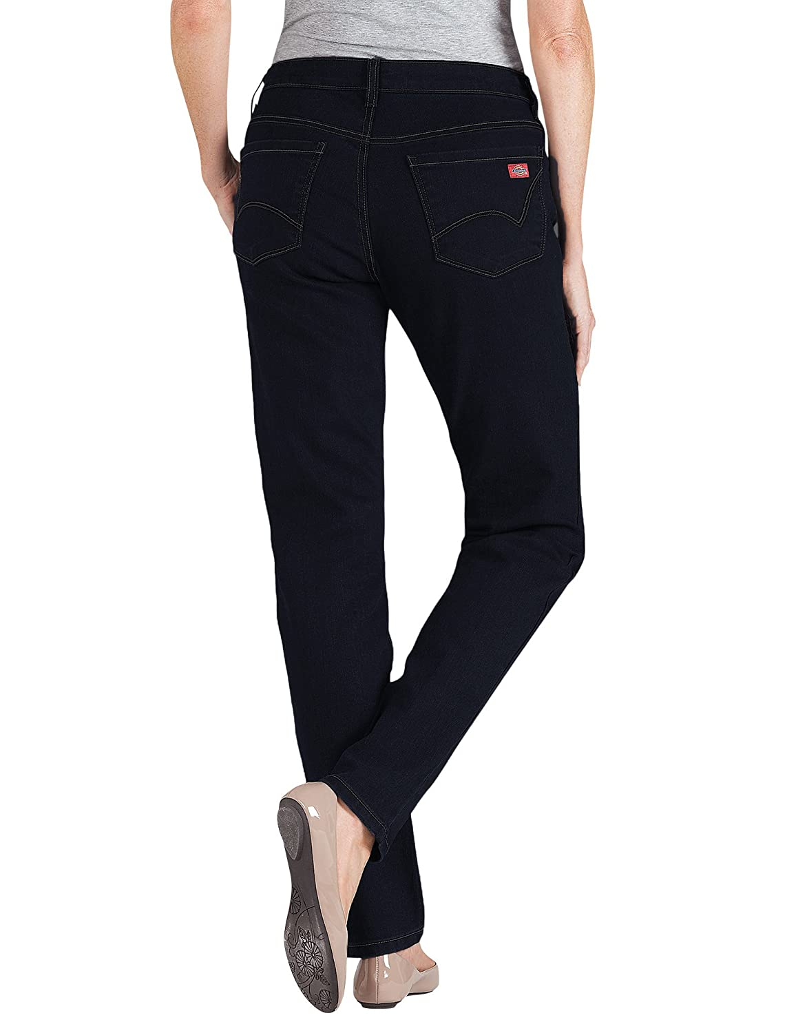 Dickies Womens Dark Stonewash Curvy Fit Stretch Skinny Jean