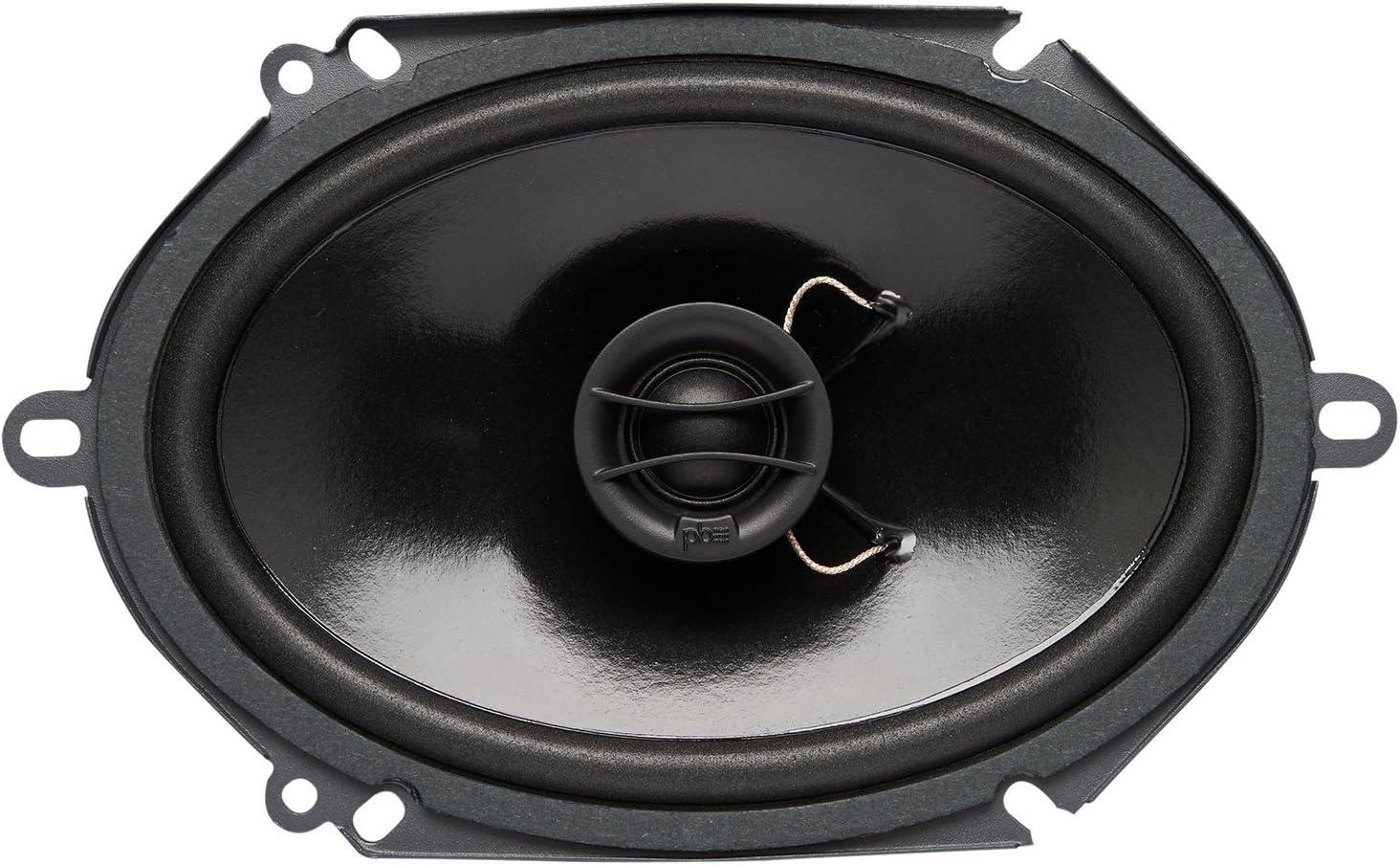 Set of 2 Powerbass S-4002 4 Coaxial OEM Speakers S4002