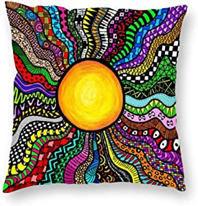 VinMea Decorative Pillow Covers Elegant Swan Motif Throw Pillow Case Cushion Cover Home Office Decor,Square 22 X 22 Inches