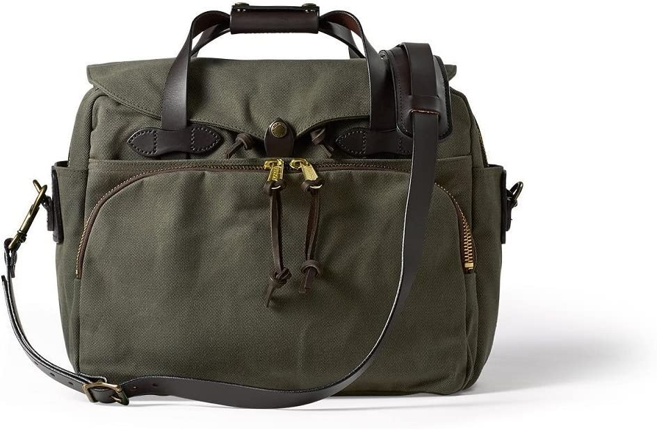 Filson Twill Padded Laptop Briefcase Otter Green, One Size