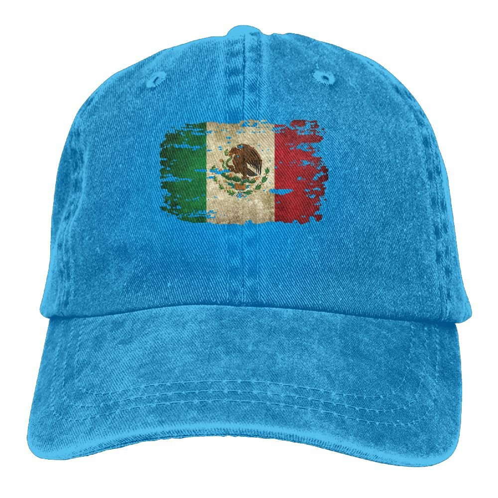 Trableade Flag Of Mexico Tattered Unisex Sport Adjustable Structured Baseball Cowboy Hat