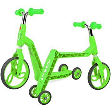 Vokul Gh05 Bicicleta sin Pedales Patinetes para niños (Verde ...