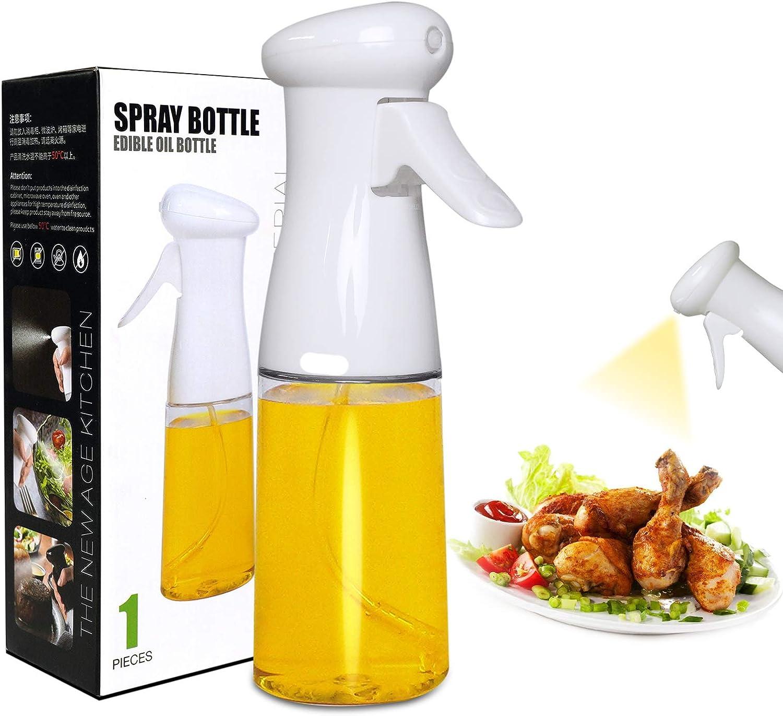 Uenkan Oil Sprayer Mister for Cooking, 210ml Food Grade Material Spray Olive Oil Bottle for Cooking, Kitchen BBQ, MakingSalad, Baking, Grilling