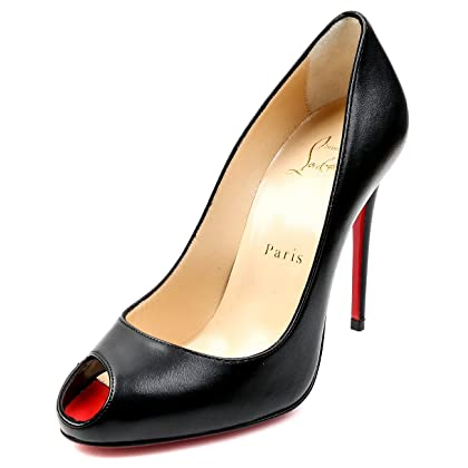33b054772f9 Wiberlux Christian Louboutin Women s Peep Toe Leather High Heels