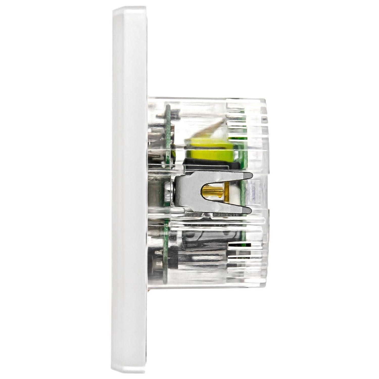 Standard encastr/é /® 3/x USB par Exemple Pour Smartphone bloc dalimentation Minadax Chargeur tablette PC mural USB