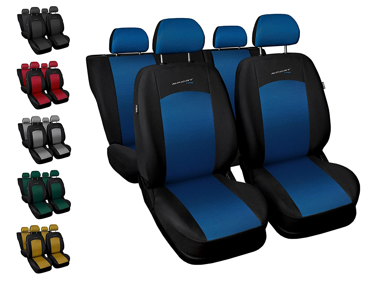 Car seat covers fit Vauxhall Meriva blue full set black