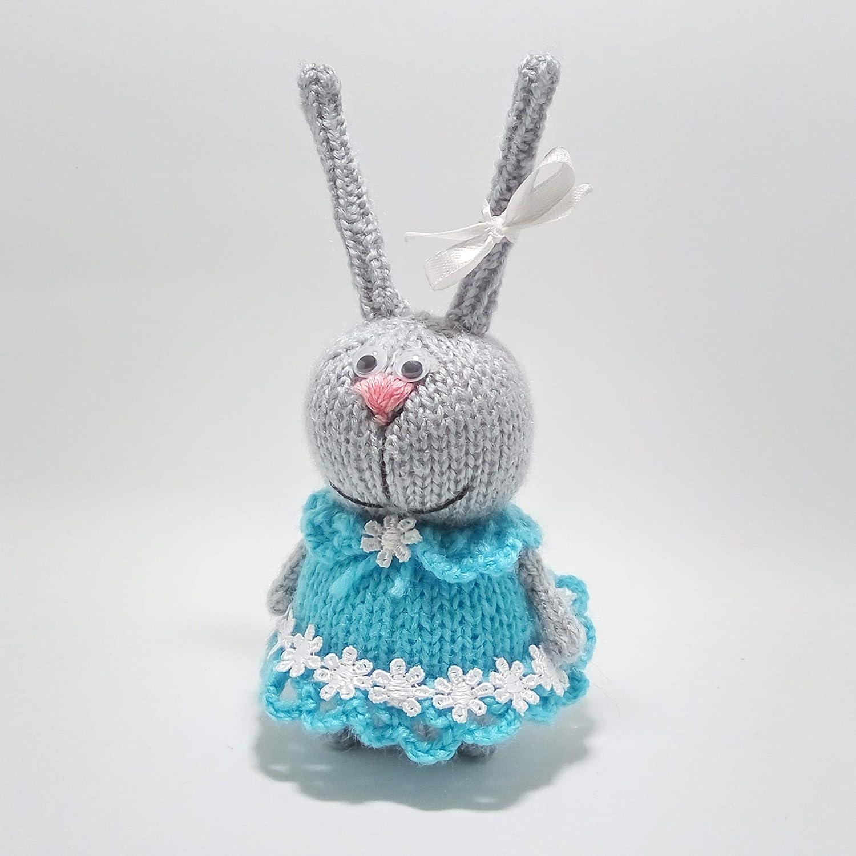 Bunny soft toy, Knitted toy, Plush funny bunny, Toys, Plush hare dolls, Miniature toys, Bunny figure, Home bunny Toy bunny, Stuffed animal, Bunny doll, Plush bunny gift bunny, Home decor