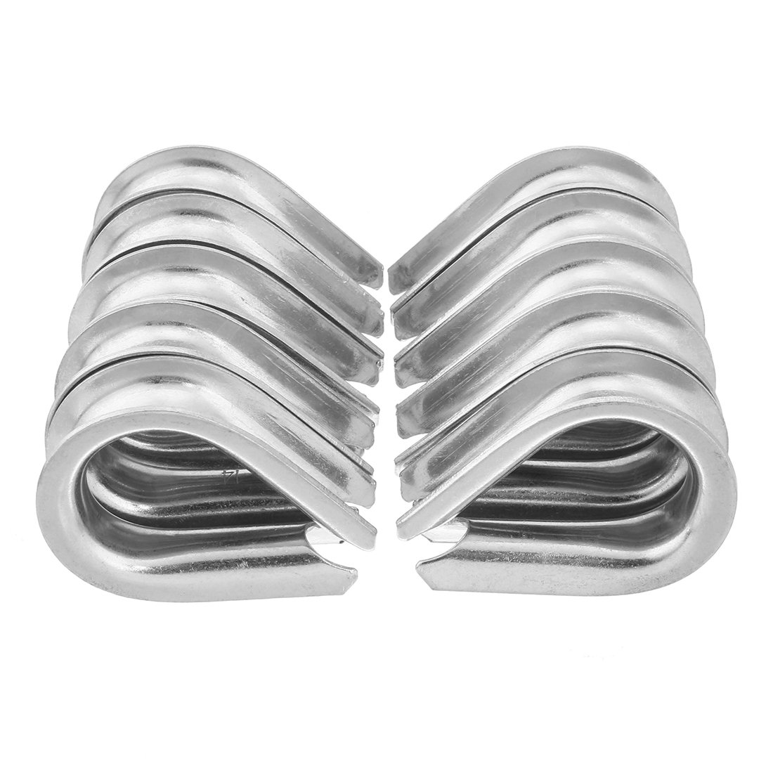 sourcingmap 304 Stainless Steel Thimble Rigging for 5//8 inch 16mm Diameter Wire Rope 10pcs